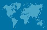 Carte du Monde en petits carrés