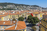 Colorful historical houses in Nice city, France