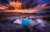 Hot Springs Nevada Ruby Valley after Sunset