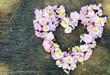 Leinwandbild Motiv Grußkarte zu Geburtstag und Valentinstag: Alles Liebe :)