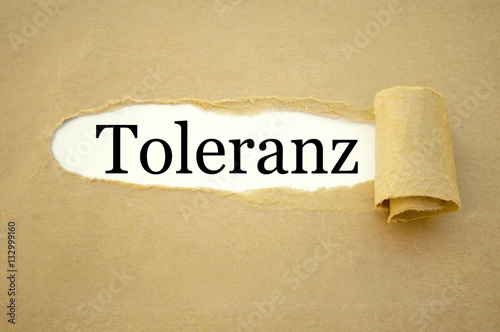 Poster Toleranz
