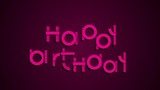 Happy birthday animated typography festive motion graphics card HD footage
