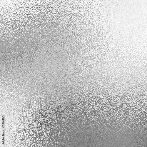 Silver foil texture background Poster