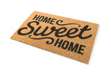 Home Sweet Home Welcome Mat Isolated on a White Background.