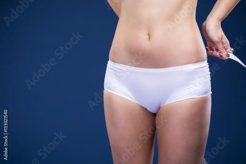Valokuva beautiful  woman in white fitness clothing