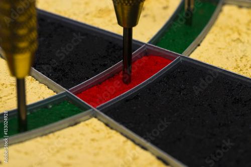 Poster Success hitting target aim goal achievement concept background
