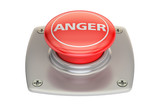 Anger Red Button, 3D rendering