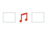 Music  icon vector inforgraphic