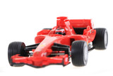 red toy as formula car