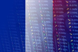 france flag with indicators and chart