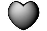 Cuore bianco e nero. Amore e San Valentino.