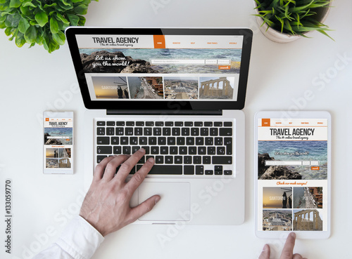 office tabletop travel agency