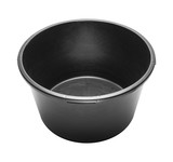 Round heavy duty black plastic basin