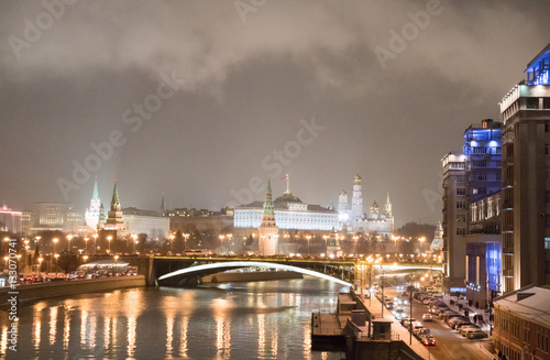 Poster Moscow Kremlin at night