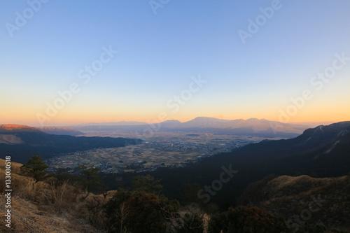 熊本県熊本市 阿蘇スカイライン展望所からの風景