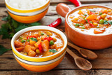 veggie curry with pumpkin and chickpeas - 133081595