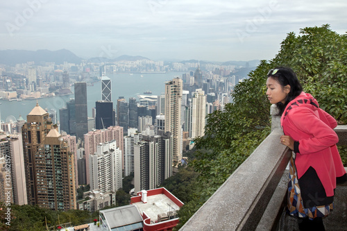 Poster woman looks at the prospect of Hong Kong