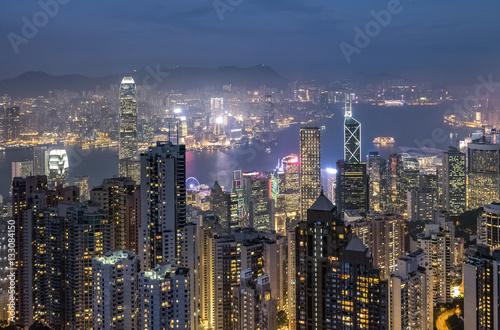Foto op Aluminium Scandinavië Victoria harbor : Hong Kong