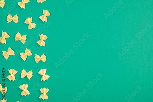 Farfalle pasta flat lay pattern © filistimlyanin1