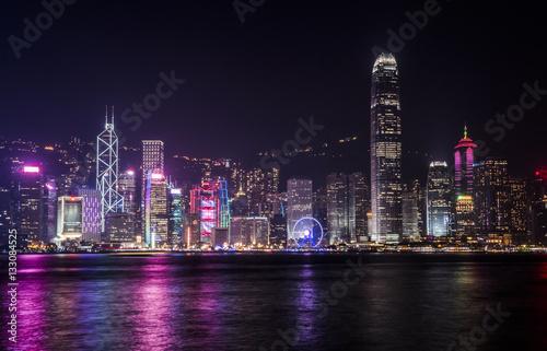 fototapeta na ścianę Hong Kong skyline at night