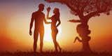 adam et éve - création - tentation - bible - pomme - 133084955