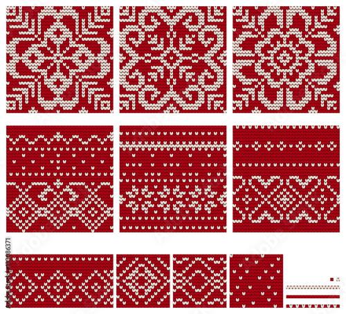 Set Of Norwegian Star Knitting Patterns Buy Photos Ap Images
