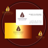 triangle business card vector logo