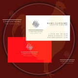 round grass business card logo