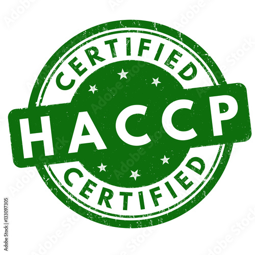 HACCP (Hazard Analysis Critical Control Points) sign or stamp