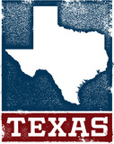 Vintage Style Texas State Sign - 133107550