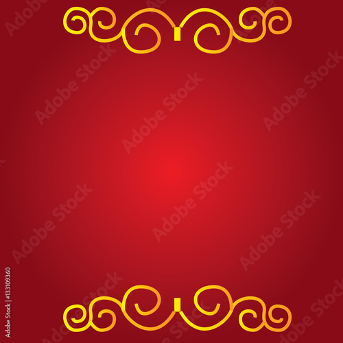 Poster Colored chinese traditional background with ornaments , Vector illustration