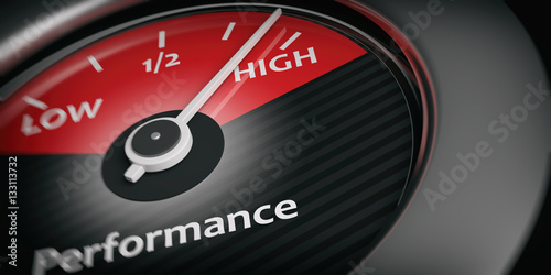 Car indicator high performance. 3d illustration