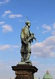 statue of John of Nepomuk at Charles Bridge in Prague