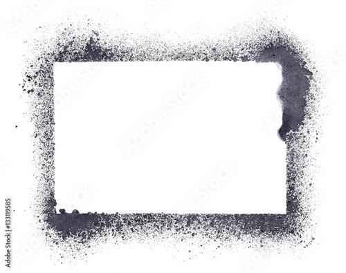 Grunge stencil frame