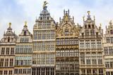 Fassaden am Grote Markt in Antwerpen, Belgien