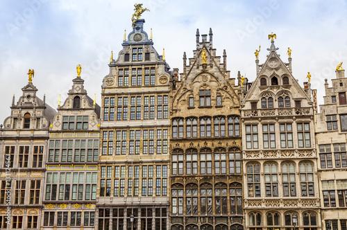 Fotobehang Antwerpen Fassaden am Grote Markt in Antwerpen, Belgien