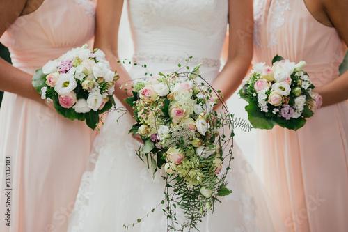 wedding flowers bride rings