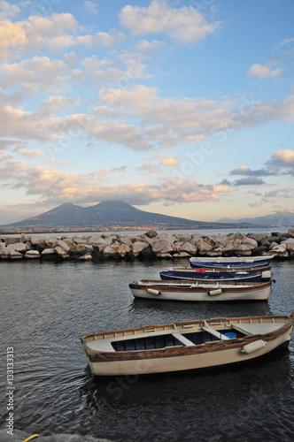 In de dag Napels Napoli, il golfo e Vesuvio