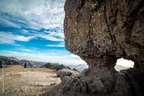 Staande foto Canarische Eilanden Gran Canaria, Roque Nublo. Symbol of the island.