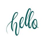 Hello hand lettering inscription. Modern Calligraphy. Vector illustration.