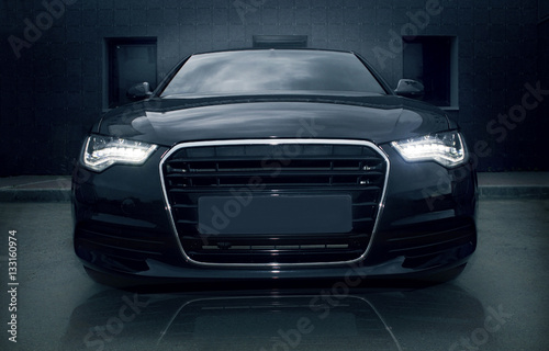 Plakat black powerful sports car