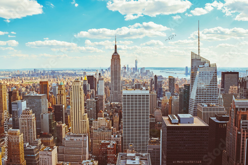 New York City (Taken from Helicopter) Poster