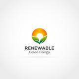 Renewable Green Energy Logo Template