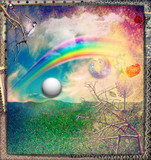 Rainbow in the enchanted country - 133165749