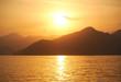 Quadro Oman sunset sea mountains
