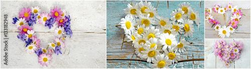 Leinwandbild Motiv - doris oberfrank-list : Grußkarte zu Geburtstag und Valentinstag: Alles Liebe :)