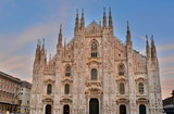 The great Milan Cathedral in the Gothic style.
