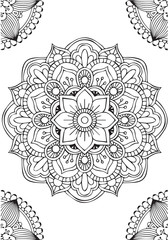 Background mandala flower to meditation