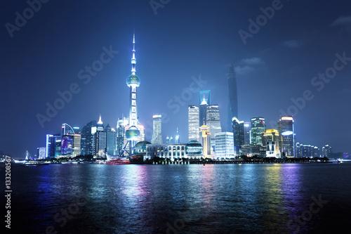 Poster Shanghai at night, China