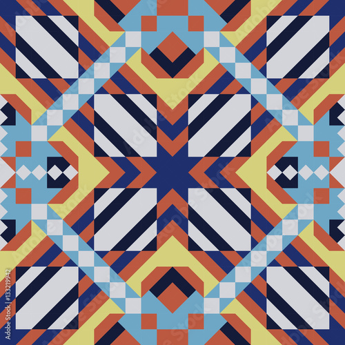 Mosaic seamless pattern. Vector illustration.
